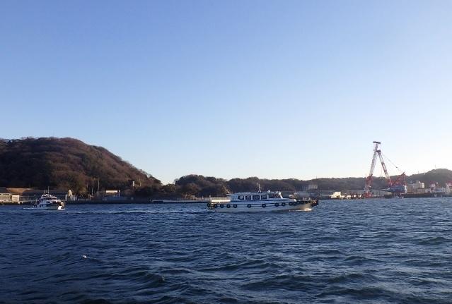 長浦港 2隻に分かれて見学