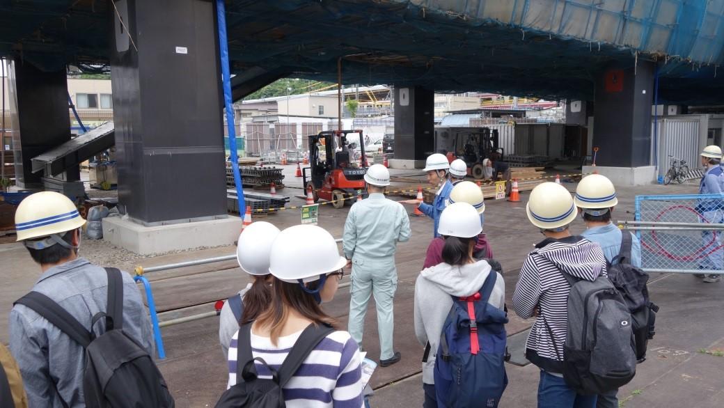 シーサイドライン新駅工事現場の見学1